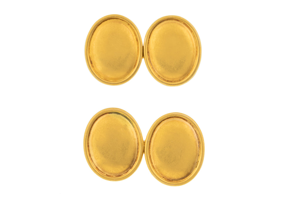 Victorian 18ct Gold Cufflinks, (10.6g)