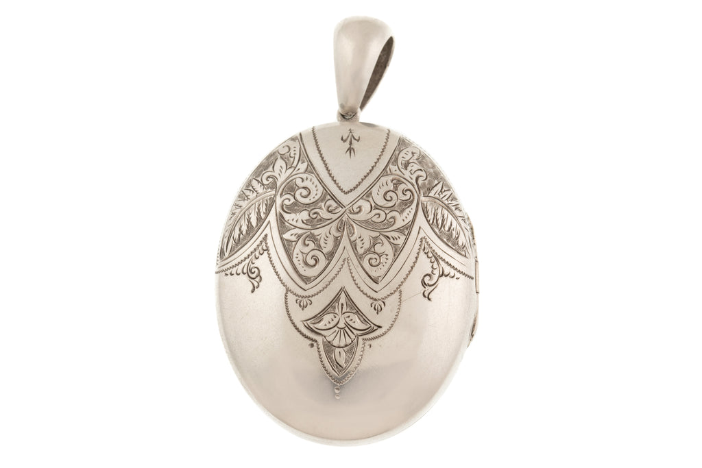 Antique Victorian Engraved Silver Locket
