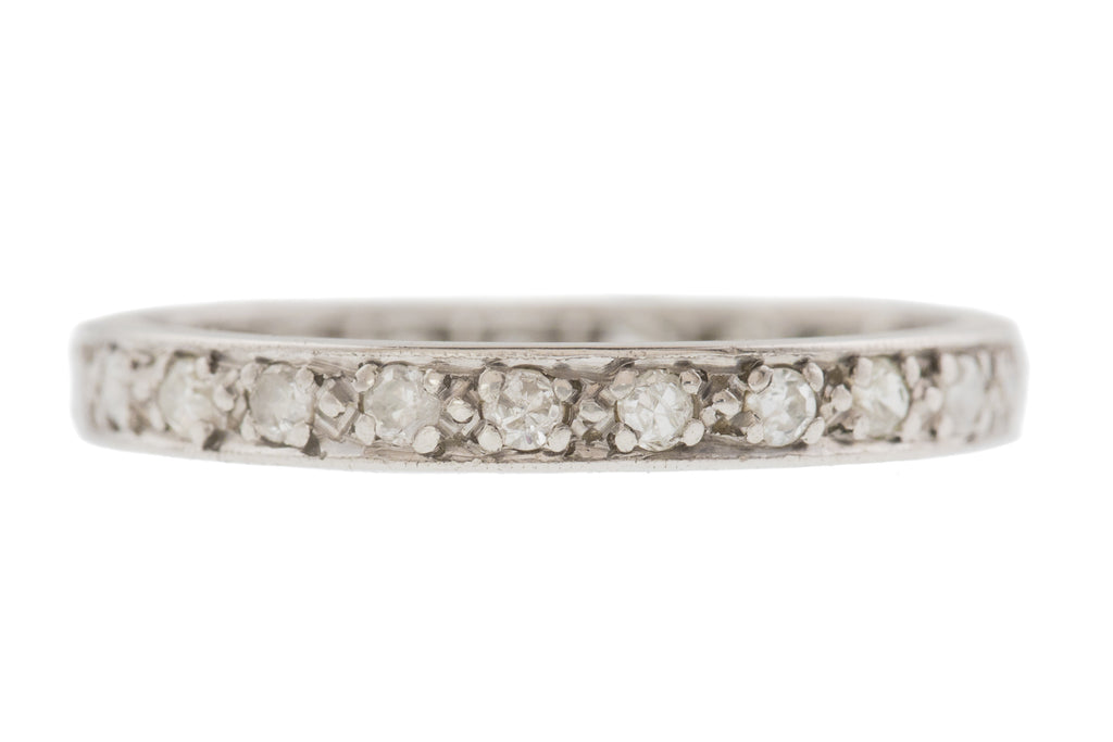 Art Deco Platinum Diamond Eternity Ring (0.50ct)
