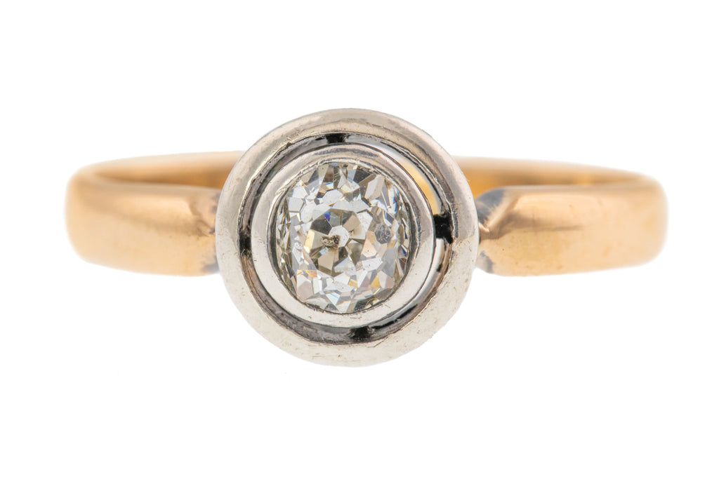 0.50ct Art Deco Diamond Solitaire Ring in 14ct Gold