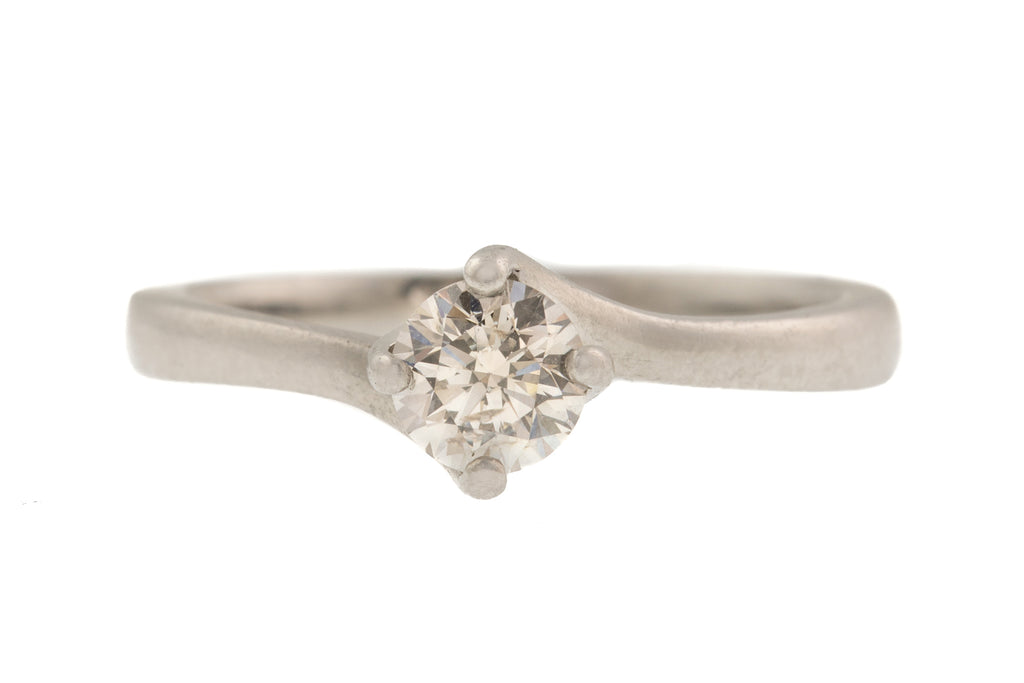 0.36ct Diamond Solitaire Platinum Engagement Ring (I-J, SI)