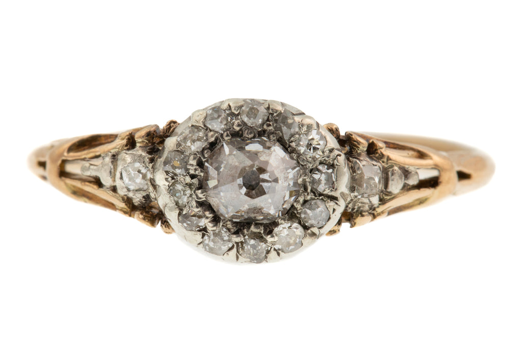 Georgian Rococo Diamond Cluster Ring (0.27ct)