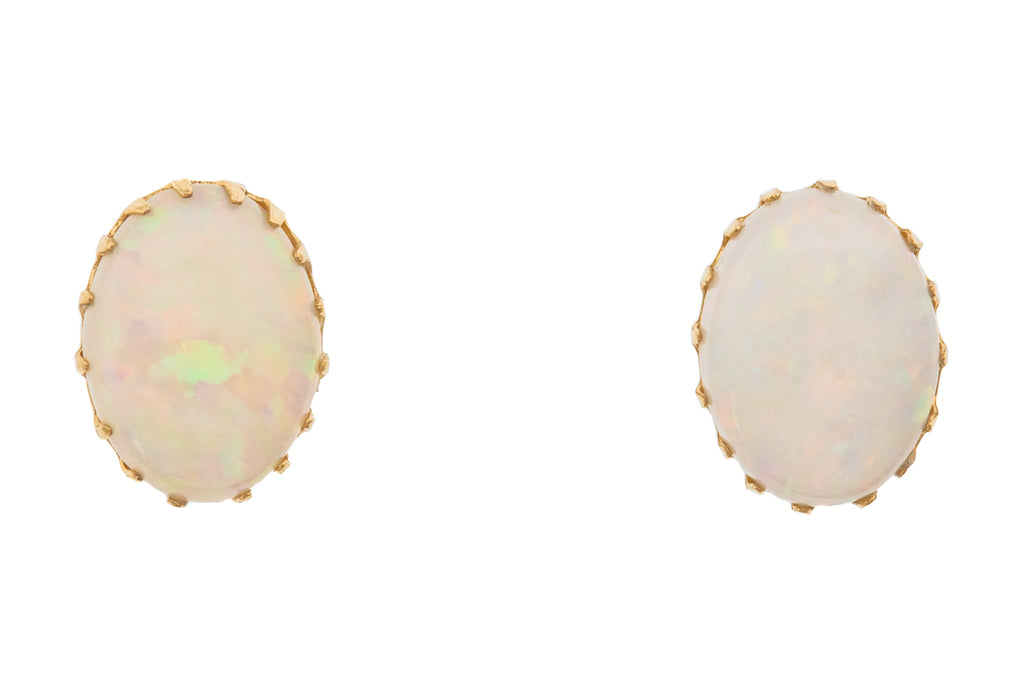 Opal Stud Earrings 9ct Gold (1.30ct)