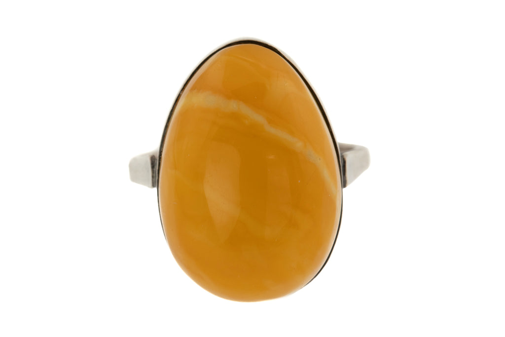 Russian Baltic Amber Ring