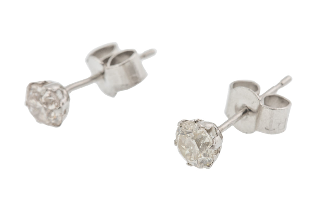 Platinum Diamond Stud Earrings (0.50ct)