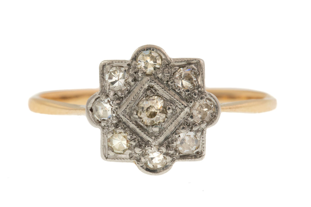 Art Deco Diamond Cluster Ring, (0.23ct)