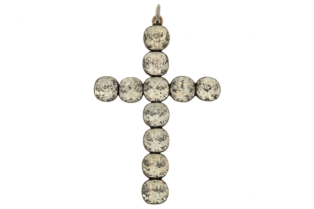 Georgian Paste Silver Cross