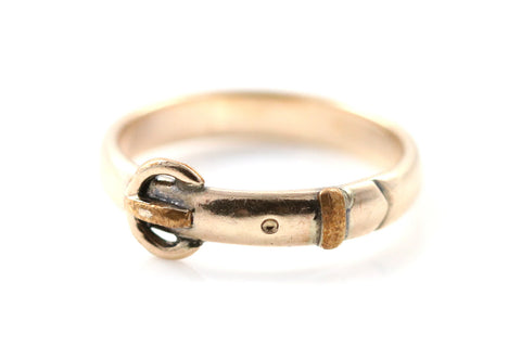 Antique Victorian 14ct Gold Belt Ring