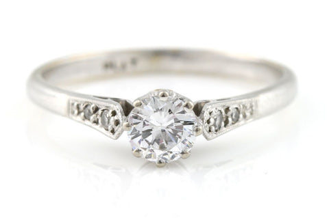 Platinum Art Deco Diamond Solitaire Engagement Ring, 0.50ct - c.1920