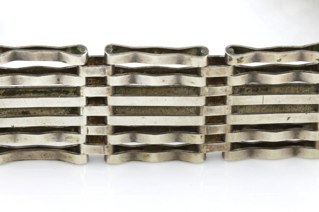 Heavyweight Vintage Silver Gate Bracelet - c.1979