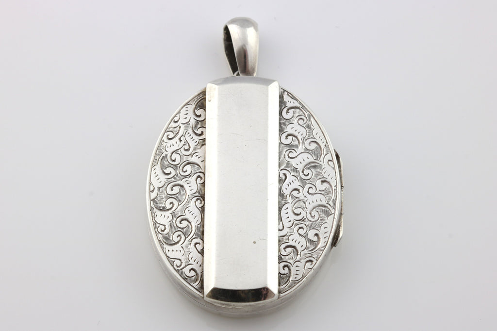 Striking English Silver Victorian Locket - c.1885