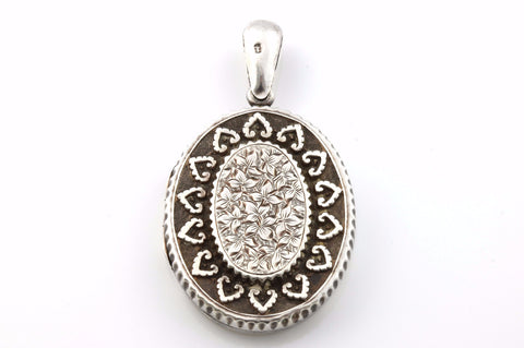 Beautiful English Silver Victorian Aesthetic Locket - c.1881