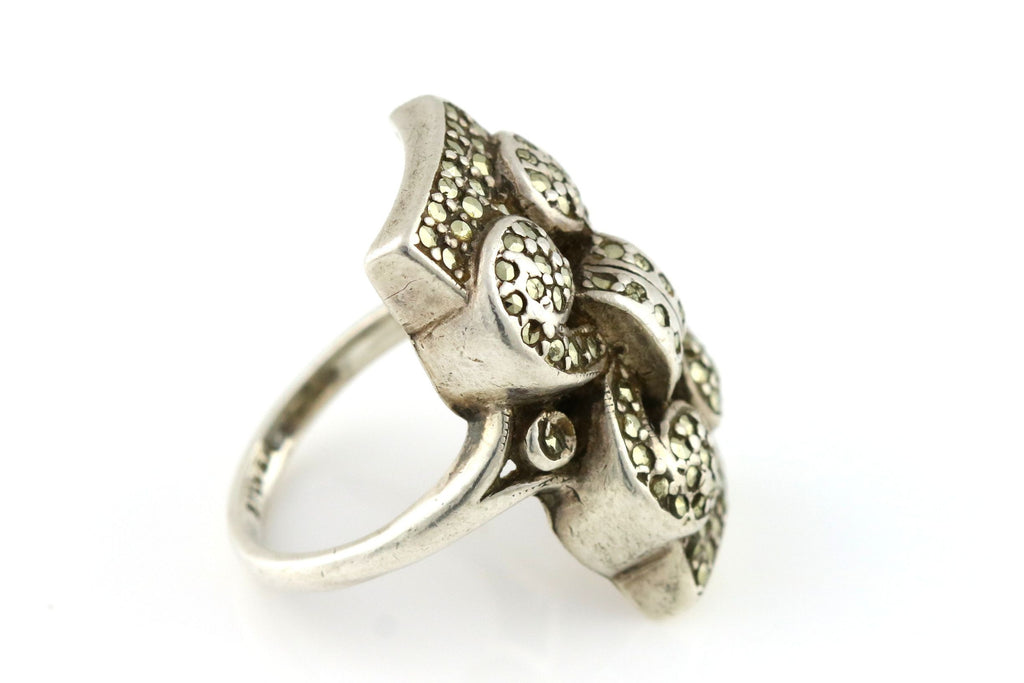 Art Deco Silver Marcasite Ring - c.1920