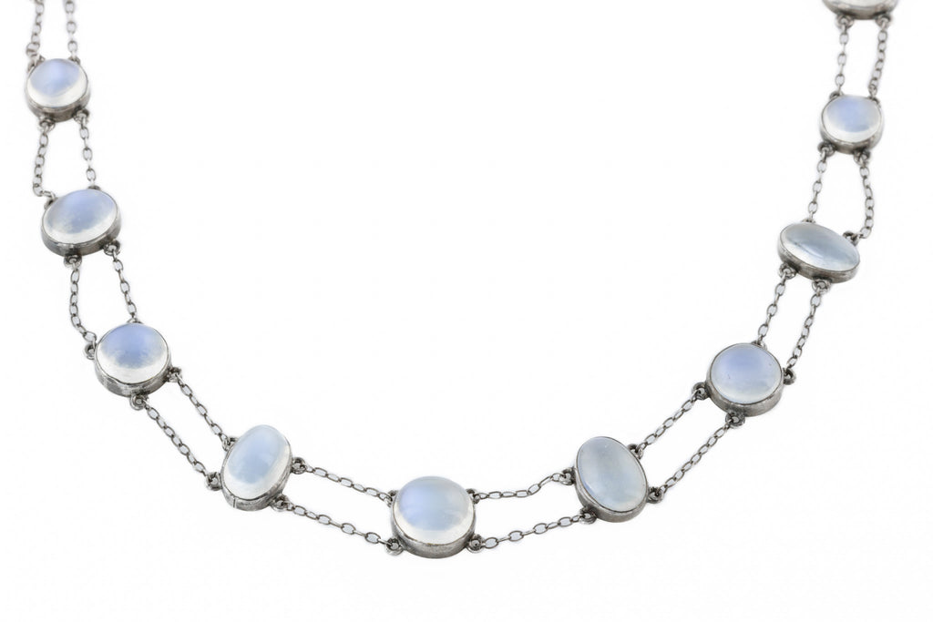 Art Nouveau Moonstone Necklace (22.28ct), 16""
