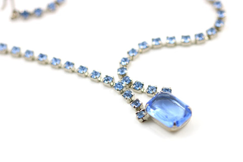 Mid-Century Blue Necklace - Lillicoco - 1