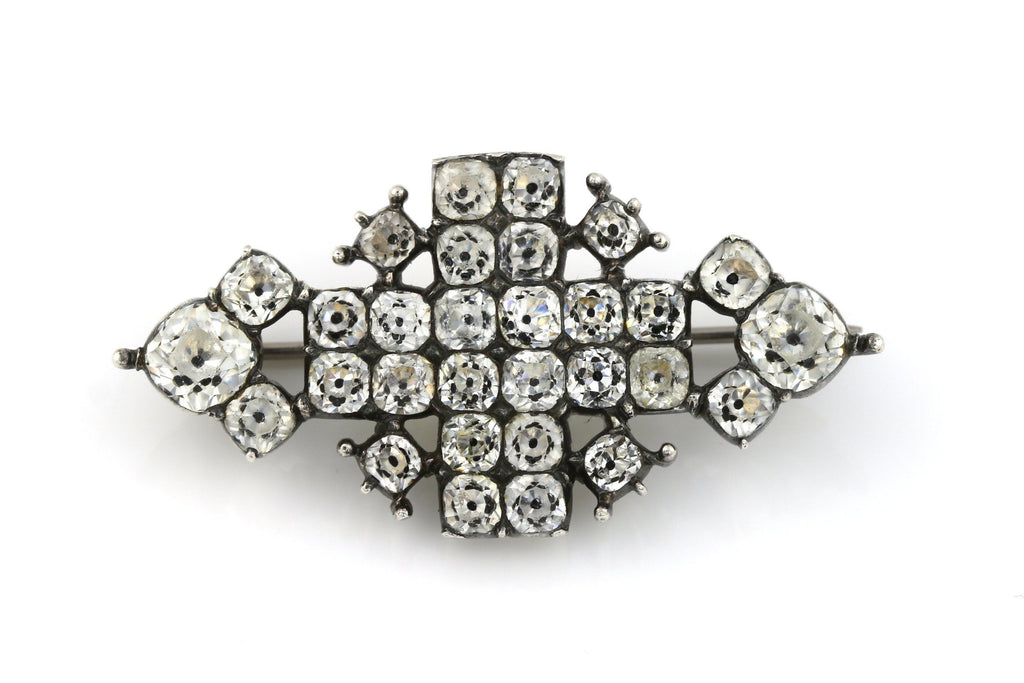 Georgian Black Dot Paste Brooch c.1800