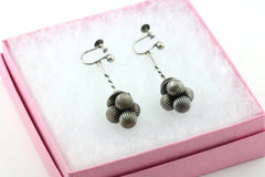 Rare Antique Victorian Aesthetic Silver Drop Earrings -c.1800