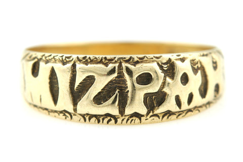Gorgeous Vintage 9ct Gold Mizpah Ring