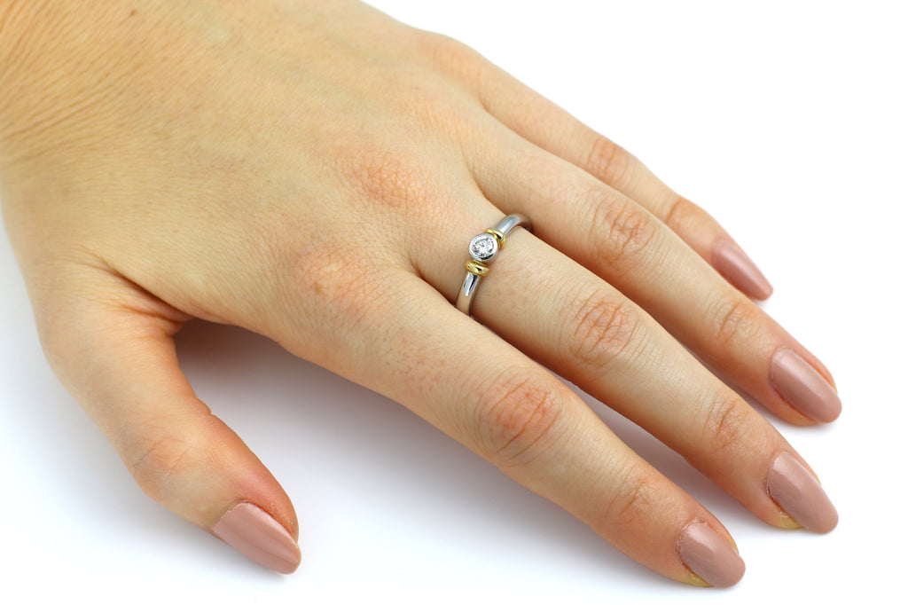 Platinum 0.25ct Solitaire Diamond Engagement Ring