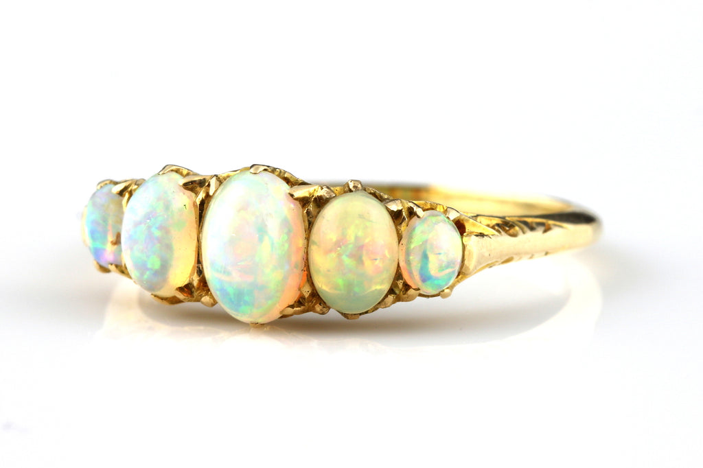 Superb Antique 18ct Gold Opal Ring c.1900