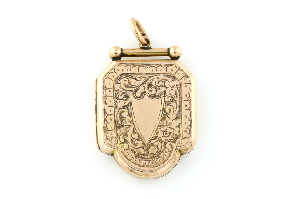 Gorgeous Victorian 9ct Gold Locket -c.1850