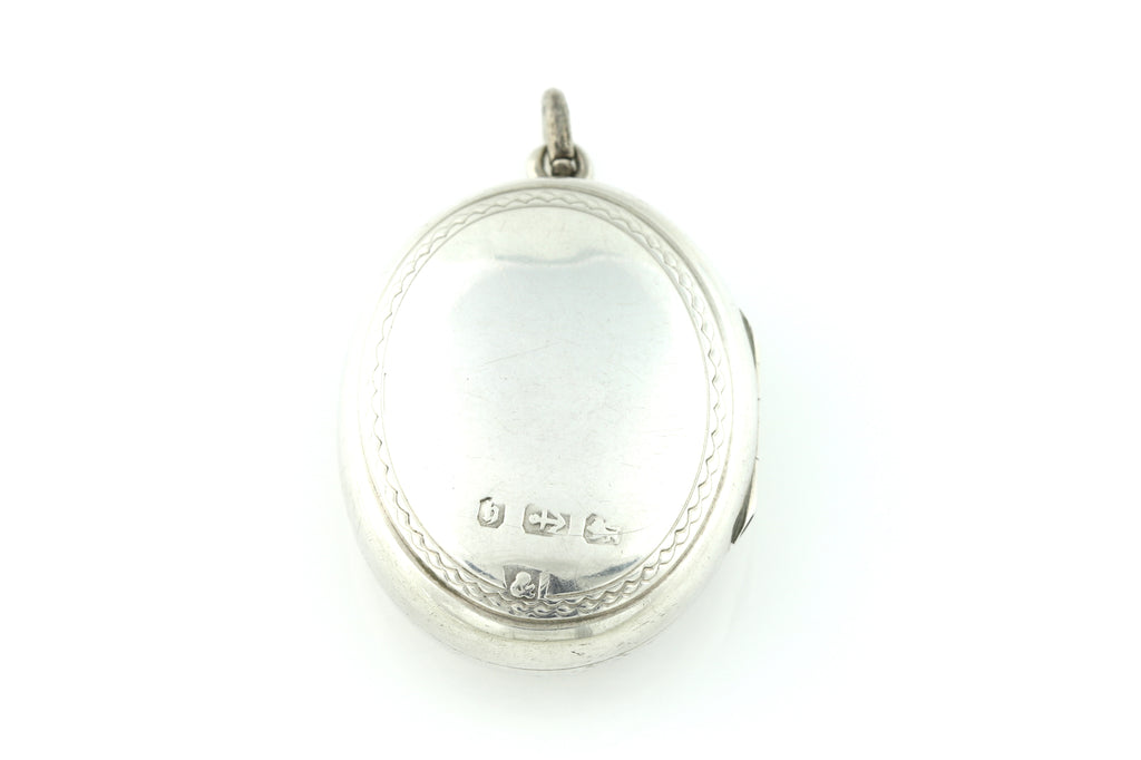 Sterling Silver Victorian Horseshoe Locket c.1882