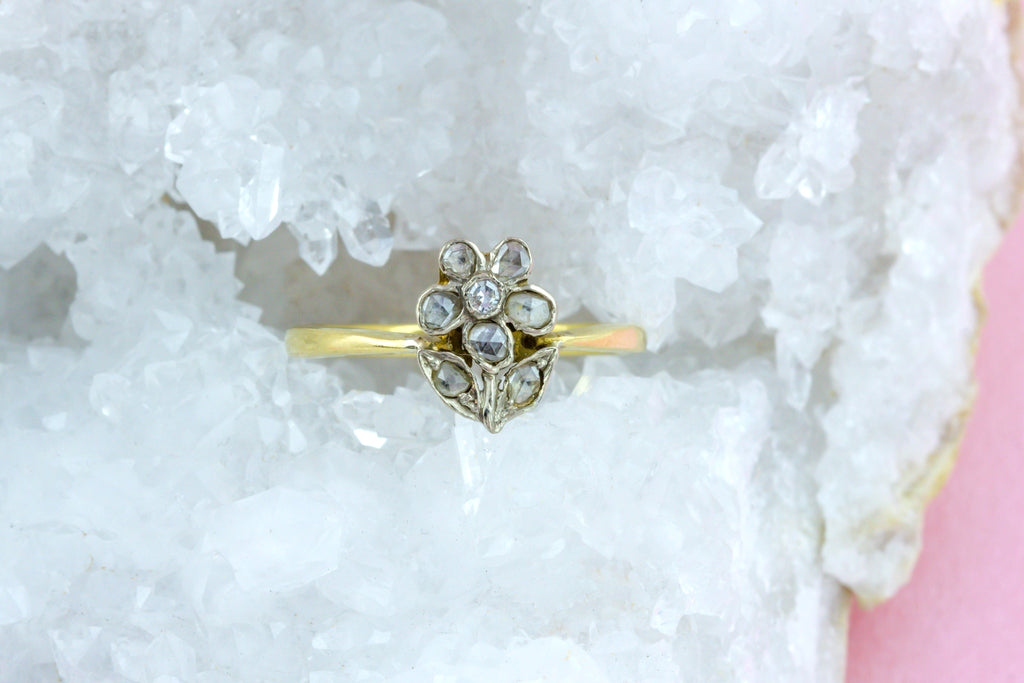 Antique Diamond Gardinetti Ring