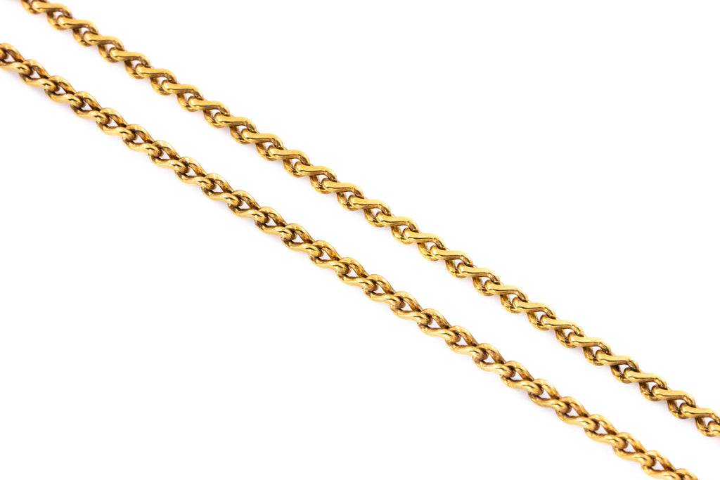 Victorian Gold Plait Chain Necklace