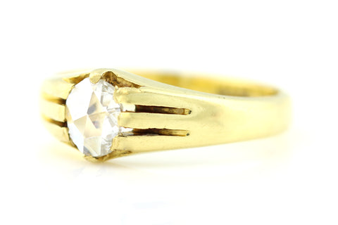 Superb 18ct Gold Victorian Rose Cut Diamond Solitaire Ring c.1850