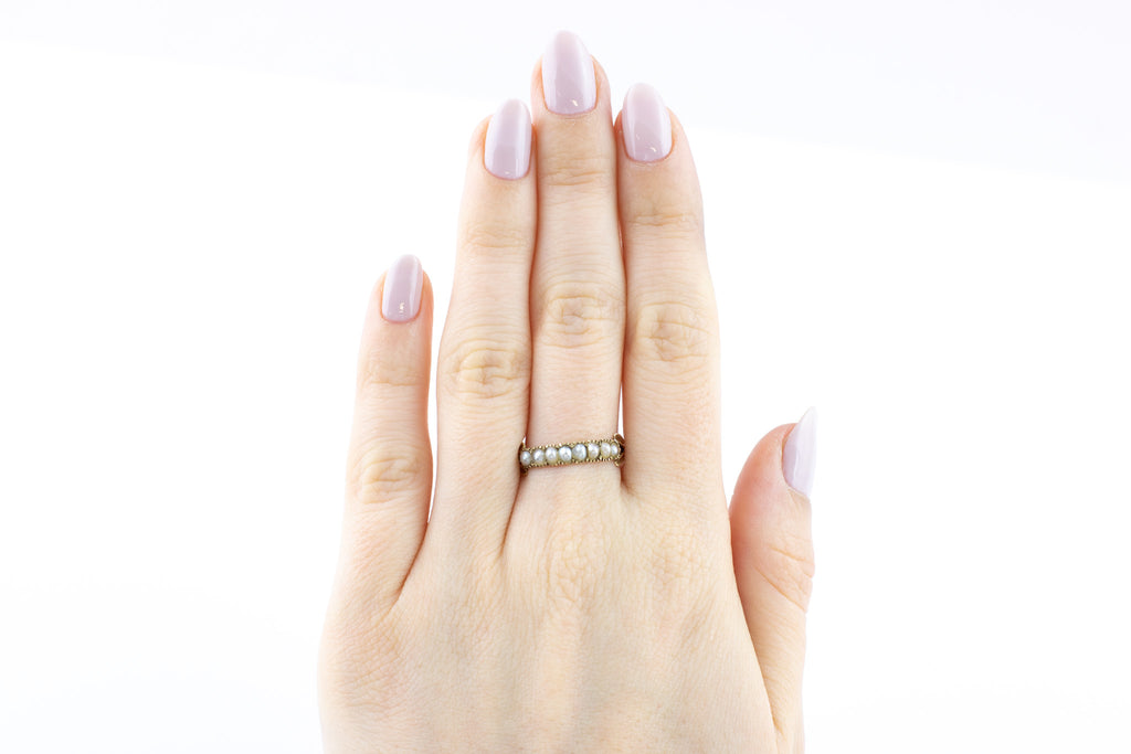 Georgian 9ct Gold Pearl Ring