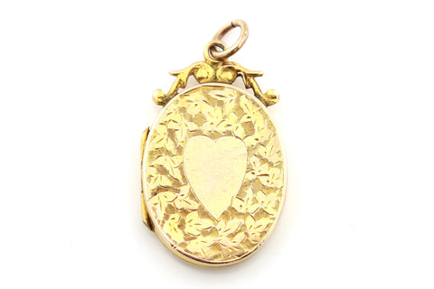 Beautiful Antique 9ct Gold Edwardian Locket- c.1905