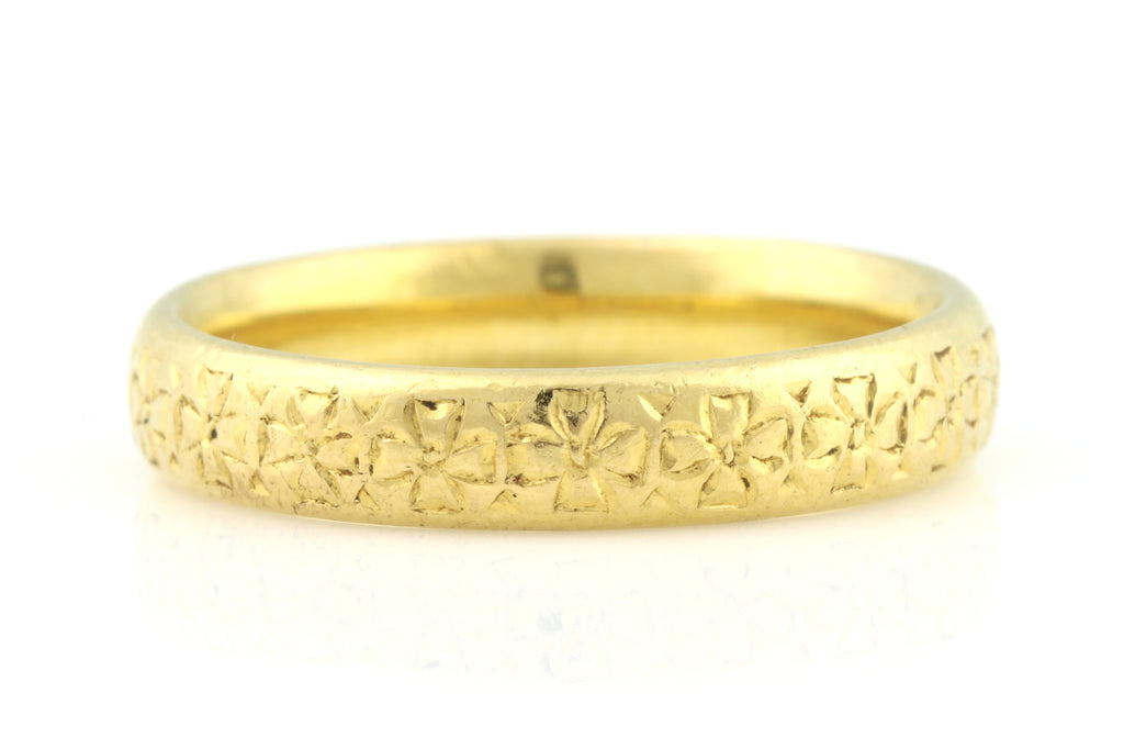 Glowing 22ct Gold Art Deco Wedding Band c.1926