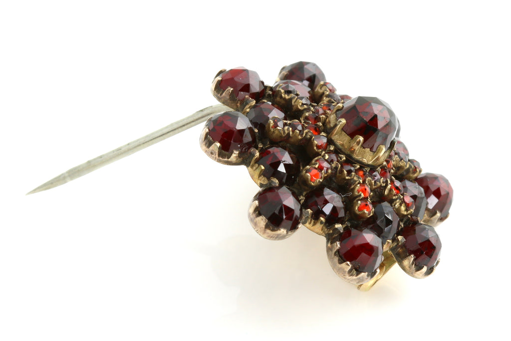 Antique Bohemian Garnet Star Brooch c.1850
