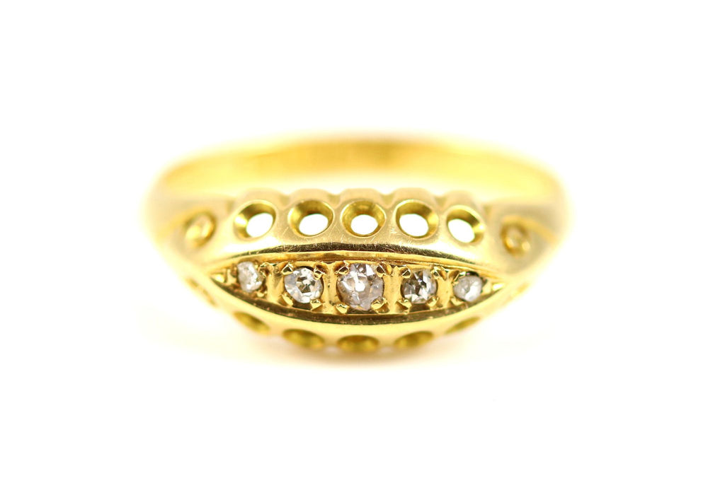 Edwardian Diamond Boat Ring - Circa 1918