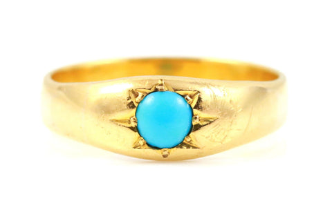 Victorian 22ct Gold & Turquoise Ring - Circa 1850