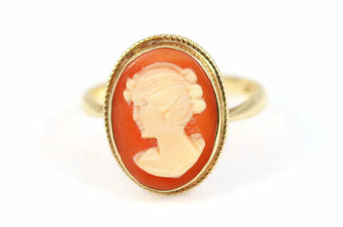 Large Victorian 9ct Gold Cameo Ring