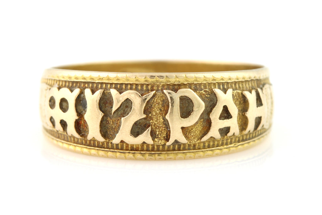 Antique 18ct Gold Mizpah Ring c.1900