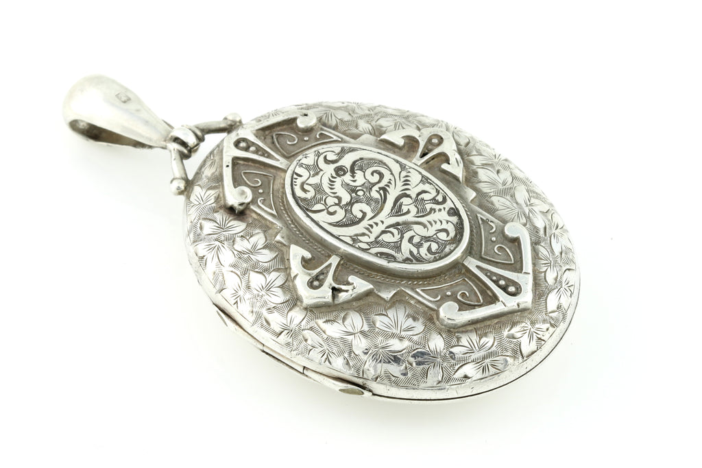 Antique Victorian Aesthetic Silver Locket c.1893