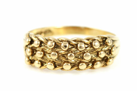 Vintage Solid 9ct Gold Keeper Ring