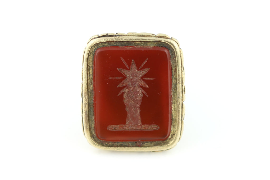 Georgian Intaglio Fob with Fist & Star c.1830