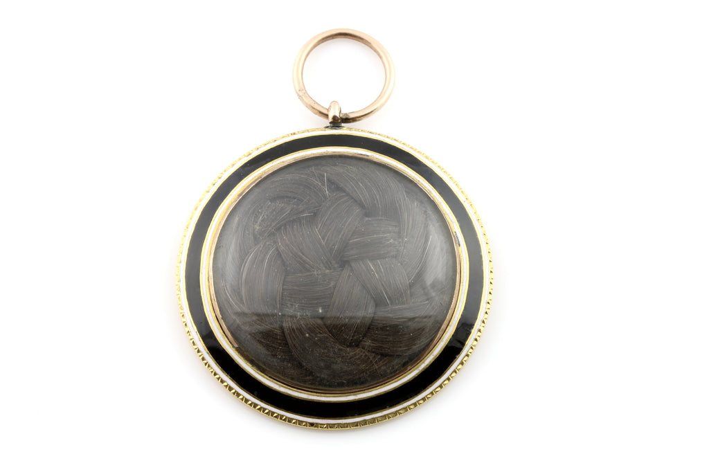"Georgian Enamel Mourning Locket - Inscribed ""18 June 1800"""