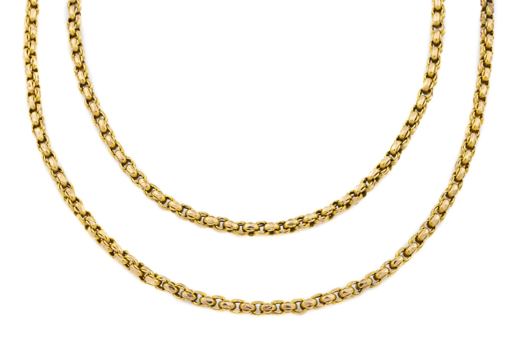 "Antique 9ct Gold Belcher Chain Necklace, 47"" (28.2g)"