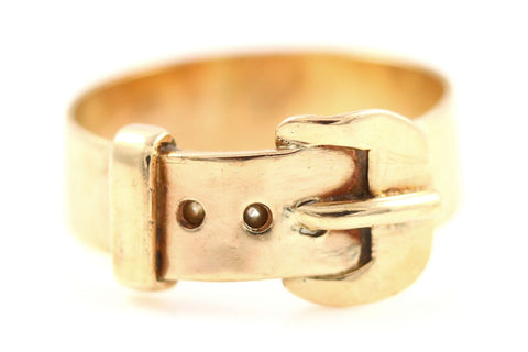 Lovely 9ct Rose Gold Wide Buckle Ring