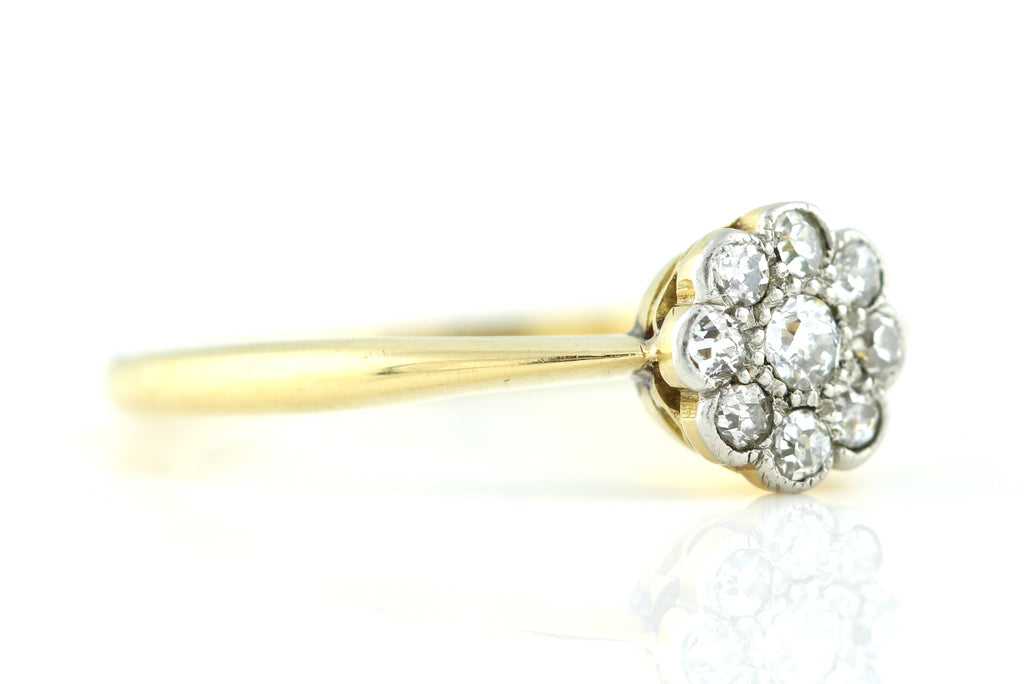 Edwardian Diamond Cluster Ring c.1905
