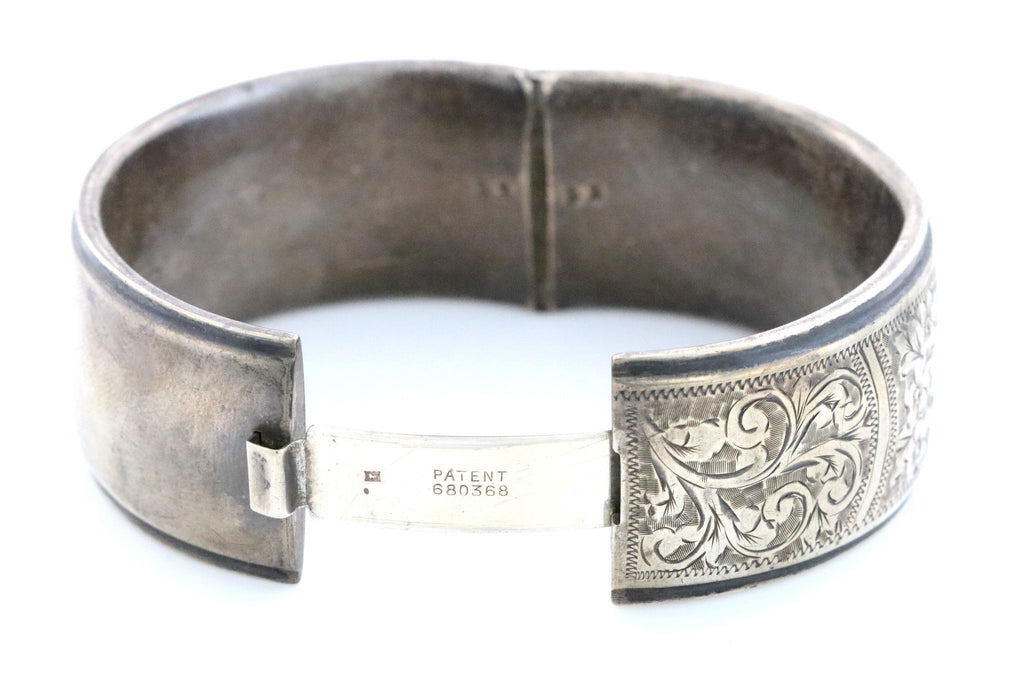 Victorian Revival Bangle Sterling Silver - Circa 1956