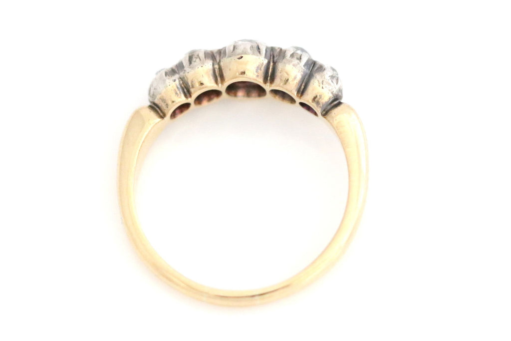 Exceptional 18ct Gold Georgian Diamond Ring (0.90ct)- Circa 1820