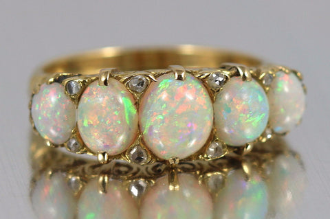 Exceptional 18ct Gold Antique Opal Ring - Circa 1837