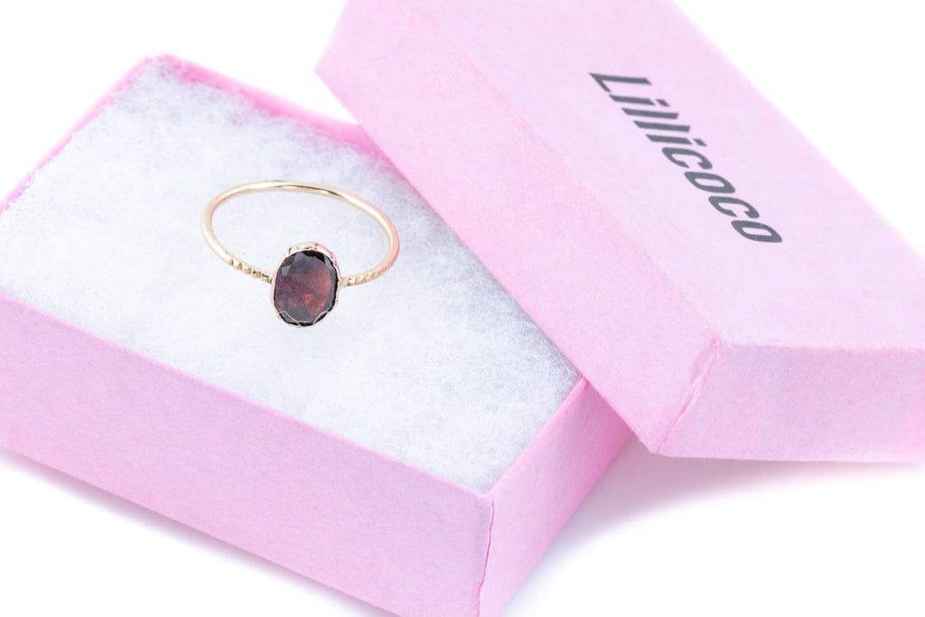 Georgian Flat Cut Garnet Ring in 9ct Gold