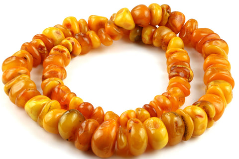 "Large 26"" Natural Butterscotch Baltic Amber Necklace (112g)"