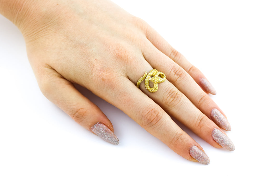 22ct Gold Antique Snake Ring c.1880